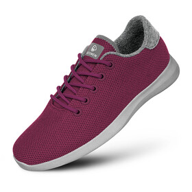 Giesswein Merino Wool Knit Runners Women, burgundy